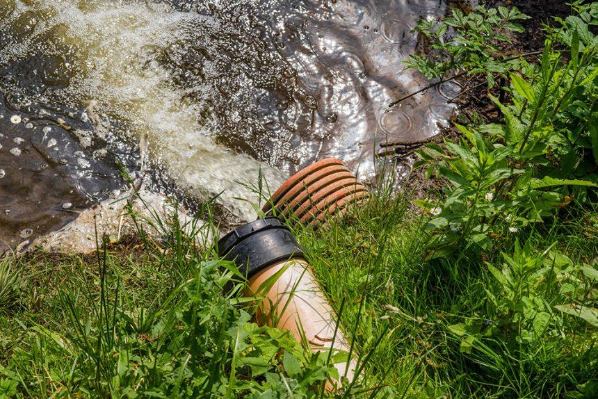 Escape aguas contaminadas